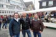 Drei von vier neuen OK-Mitgliedern: Michael Hochreutener, Bruno Huser und Matthias Seelhoferr (von links). (Bild: Bilder: Michael Hug)