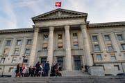 Das Bundesgericht in Lausanne: Dort sollen sich Richter nicht in Komitees engagieren, wenn die Abstimmungsvorlage einen Bezug zur Institution hat. (Bild: Jean-Christophe Bott/Keystone (Lausanne, 16. Oktober 2018)