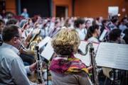Probensonntag in der Konvikthalle: die Bassklarinetten im Cinemusic-Projektorchester. (Bild: Andrea Stalder)