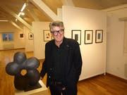 Melchior Imboden in der Ausstellung im Kulturraum Buochs. (Bild: Kurt Liembd (Buochs, 4. November 2018))