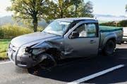 Eines der Fahrzeuge verlor durch den Zusammenprall ein Rad. (Bild: Staatsanwaltschaft Luzern)