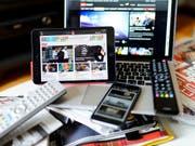 Unternehmen sollen Radio und Fernsehen nicht mitfinanzieren müssen. Eine Kommission des Nationalrates will sie von der Abgabe befreien. (Bild: KEYSTONE/JEAN-CHRISTOPHE BOTT)