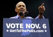 Der frühere US-Präsident Barack Obama während einer Rede im Vorfeld der Kongresswahlen. (Bild: Nam Y. Huh/AP (Gary, 4. November 2018))