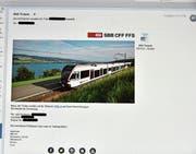 Die gefälschten E-Mails wirken täuschend echt. (Bild: Heidy Beyeler)