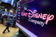 Das Logo von Walt Disney auf einem Bildschirm der New Yorker Börse. (Bild: Richard Drew/AP (New York, 8. August 2017))