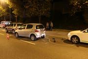 Die Unfallstelle vom Montag im Feierabendverkehr.