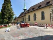 Die Sanierung des Klosterplatzes im Wesemlin ist abgeschlossen. (Bild: PD)