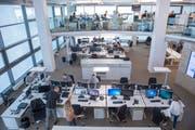 Der neue Newsrooms des St.Galler Tagblatts. (Bild: Urs Bucher)