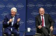 Schaffte 2002 eine von nur drei Ausnahmen: George W. Bush. (rechts) (Bild: Keystone/Mitchell Pe Masilun, Little Rock, 17.07.2018)