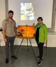 Dieses Bild hat Margreth Poletti mit der Unterstützung von Naci Kocaslan gemalt. (Bild: PD)