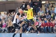 AndrijaPendic im Handball-Derby gegen Fortitudo Gossau. (Bild: Ralph Ribi)