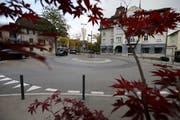 Rabenkreisel im Zentrum von Cham. (Bild: Stefan Kaiser (Baar, 08. Oktober 2018))
