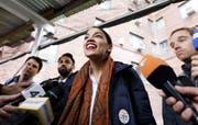 Alexandria Ocasio-Cortez wird 29-jährig in den Kongress einziehen. (Bild: EPA/Justin Lane, New York, 6. November 2018)