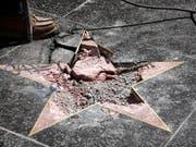 Donald Trumps Stern auf dem «Walk of Fame» in Hollywood wurde im vergangenen Juli zerstört. (Bild: KEYSTONE/EPA/BOB RIHA JR)