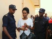 Die ruandische Politikerin Diane Rwigara wollte bei der Präsidentenwahl 2017 gegen Kagame antreten, wurde aber von der Wahl ausgeschlossen. (Bild: KEYSTONE/AP)