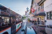 Darüber, wie der öffentliche Verkehr in Gossau aussehen soll, ist man sich im Stadtparlament uneins. (Bild: Urs Bucher - 20. September 2018)
