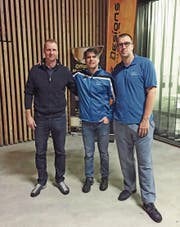 Walter Rohrer, Jorge Diez Etcheverry und Nils Krönert (von links). (Bild: PD)