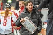 Daniela Diaz, die Trainerin der Frauen-Nationalmannschaft, im Einsatz. (Bild: Andy Müller/Freshfocus (Arosa,9. Februar 2017)
