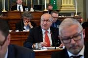 Walter Locher (FDP, St.Gallen) sitzt seit 2003 im Kantonsrat. 2010/11 präsidierte er diesen. (Bild: Regina Kühne - 24. April 2018)