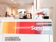 Das Schweizer Telekomunternehmen Sunrise hat in den ersten neun Monaten 2018 den Umsatz steigern können. (Bild: KEYSTONE/CHRISTIAN BEUTLER)