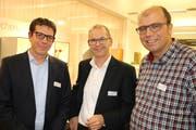 Zeigten pragmatische Wege zur Automatisierung auf (von links): Michael Rey, Urs Zurbuchen und Simon von Gunten. (Bild: Martin Sinzig)