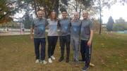 Die erfolgreiche Urner Delegation (von links): Coach Jan Büchlin, Sara Baumann, Veljko Ilic, Michael Arnold und Nicholas Jackson. (Bild: pd)
