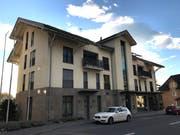In diesem Gebäude in Gams soll im Frühjahr 2019 eine neue Kinderarztpraxis eröffnet werden. (Bild: Katharina Rutz)
