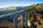 Voralpen-Express auf dem Sitterviadukt bei St. Gallen