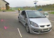 Beim Unfall wurde ein Motorradfahrer tödlich verletzt. (Bild: Kapo TG)