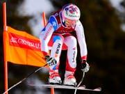 Michelle Gisin bestätigte ihre Leistung vom Freitag und fuhr in Lake Louise erneut auf das Podest (Bild: KEYSTONE/AP The Canadian Press/FRANK GUNN)