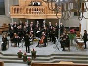 Der ökumenische Kirchenchor St.Margrethen unter der Leitung von Dagmar Marxgut präsentierte ein qualitativ hochstehendes Adventskonzert. (Bild: Ulrike Huber)