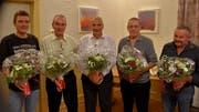 Sie feierten Siege in den Jahresmeisterschaften (von links): Martin Slanzi, Rudolf Walker, Kurt Gamma, Hans Roner und Ferdy Casagrande. (Bild: Georg Epp (Attinghausen, 7.Dezember 2018))