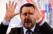 Der italienische Innenminister Matteo Salvini. (Bild: Gregorio Borgia/AP (Rom, 10. Dezember 2018))