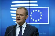 EU-Ratspräsident Donald Tusk. (Bild: Sean Gallup/Getty (Brüssel, 25. November 2018))
