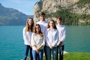 Sie setzen sich für Nachhaltigkeit ein (von links): Bianca Schuler, Gina Calcagni, Nico Simmen, Annalena Truttmann und Fabian Stadelmann. (Bild: PD)