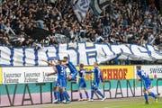 Endlich wieder zu Hause jubeln, lautet das Ziel des FCL. So wie hier beim letzten Sieg im eigenen Stadion gegen GC. (Bild: Urs Flueeler/Keystone (Luzern, 2. September 2018))
