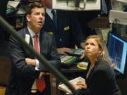 Lange Gesichter: Die Stimmung an den europäischen Börsen ist so schlecht wie seit vier Jahren nicht mehr. (Bild: KEYSTONE/AP/HENNY RAY ABRAMS)
