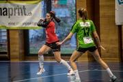 Auch Tanja Marjanac (links), die beste Emmer Spielerin, ist nicht fit genug. Bild: Nadia Schärli (Kriens, 8. Dezember 2018)