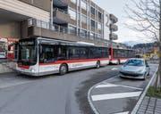 Am Bahnhof Wittenbach halten seit diesem Sonntag auch Busse der VBSG. (Bild: Thomas Hary)