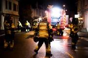 Die Feuerwehr Romanshorn bei einem Einsatz vor einem Jahr an der Alleestrasse. (Bild: Thi My Lien Nguyen)
