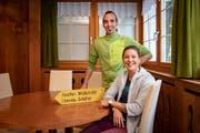 Das neue Wirteteam mit Gallus Knechtle und Melanie Gmünder (Bild: Urs Bucher)