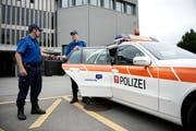 Die Nidwaldner Kantonspolizei. (Bild: Corinne Glanzmann (Stans, 3. September 2014))