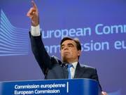 Warten auf die Börsenäquivalenz: Der Chefsprecher der EU-Kommission, Margaritis Schinas, hat am Dienstag in Strassburg bestätigt, dass die Schweiz Thema bei der wöchentlichen Sitzung der EU-Kommission war. Entscheidungen seien jedoch keine getroffen worden, sagte er. (Bild: KEYSTONE/AP/VIRGINIA MAYO)