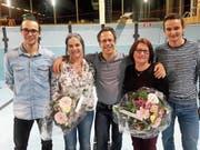 Die Jubilare (von links): Jérôme Arnold, Adriana Walker, Pius Zberg, Elisabeth Walker und Philipp Baumann. (Bild: PD)