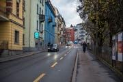 Auf der Bernstrasse in Luzern könnte Tempo 30 ein Thema werden. (Bild: Dominik Wunderli (11. Dezember 2018))