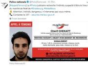 «Greifen Sie auf keinen Fall selber ein»: Die französische Polizei warnt vor dem mutmasslichen Attentäter von Strassburg. (Bild: Screenshot Twitter)
