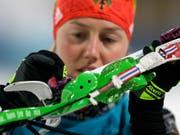 Gesundheitlich angeschlagen: Laura Dahlmeier (Bild: KEYSTONE/AP/GREGORIO BORGIA)