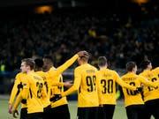 Guillaume Hoarau schoss die Young Boys zum ersten Sieg in der Champions League (Bild: KEYSTONE/ALESSANDRO DELLA VALLE)