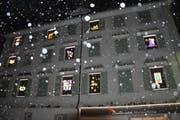 In Gais wird ein Haus zum Adventskalender. (Bild: Livia Landolt)