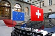 Die Zusammenarbeit der Schweiz mit der EU in Asylfragen erfährt finanzielle Veränderungen: Der Ständerat hat einer Änderung im Asylgesetz zugestimmt. (KEYSTONE/Peter Klaunzer)